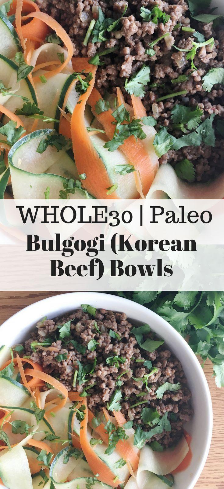 Bulgogi (Korean Beef) bowls - Whole30 & Paleo friendly!