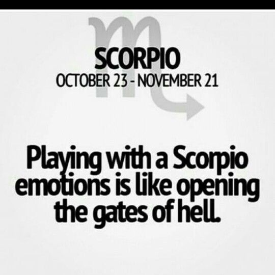 Facts about dating a scorpio