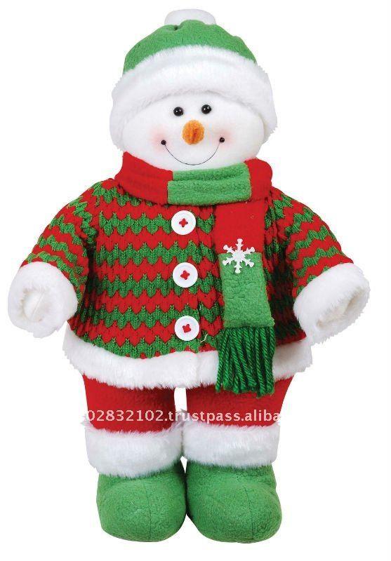 """14"""" muñeco de nieve de pie ( sombrero verde )-Adornos navideños ..."""
