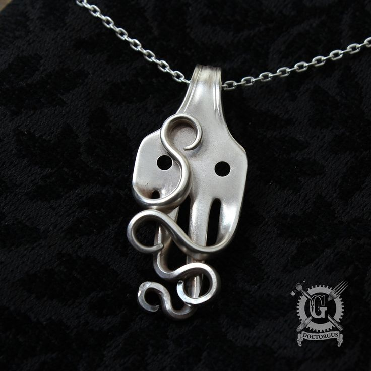 edit necklace fork necklaces products octopus pendant
