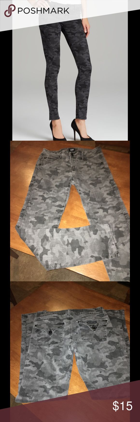 Hudson Vintage Grey Camo Skinny Jeans Size 30 Hudson skinny jeans.  They are the Colin Vintage Grey Camo Jeans. These gave a muted color, but that is the design.  Size 30.  Inseam is 30.5 inches.  Important:   All items are freshly laundered as applicable prior to shipping (new items and shoes excluded).  Not all my items are from pet/smoke free homes.  Price is reduced to reflect this!   Thank you for looking! Hudson Jeans Jeans Skinny