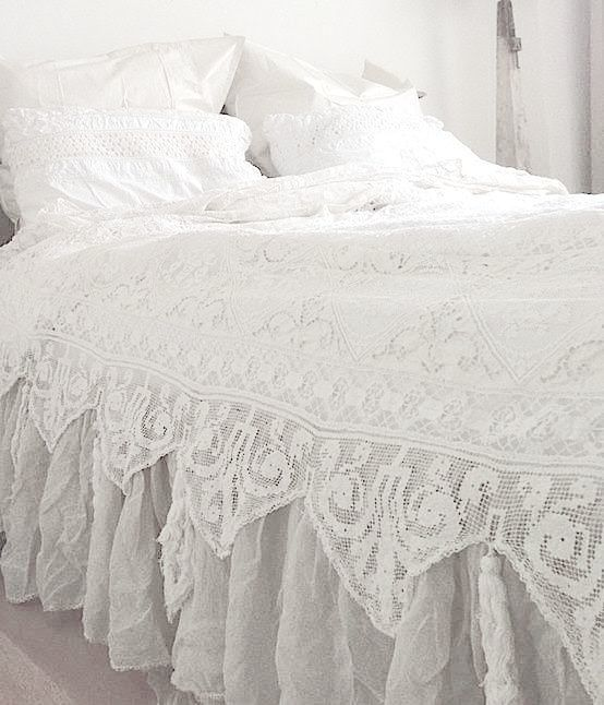 White lace bedding