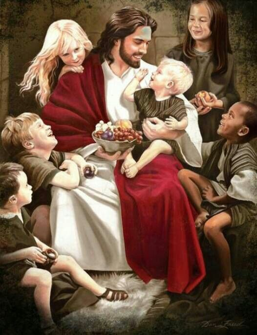 """Jesus, however, said: ""Let the young children alone, and stop hindering them from coming to me, . . "" Matt. 19:14"