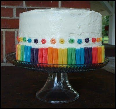 Rainbow cake decorations