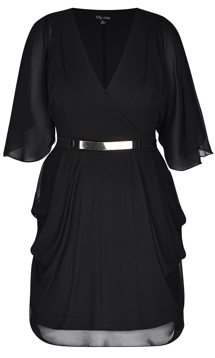 Hey There Stylist, On this page, I pinned a black lace dress. I love lace more than chocolate but I am truly digging the cut of this dress! I am willing to branch out on color (I do have a great Ralph Lauren black wrap dress that is classy). A red lace dress or tunic would be perfect! ❤️❤️❤️❤️❤️    City Chic - BLACK WRAP DRESS - Women's Plus Size Fashion