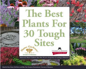 This site is pretty awesome.  It lists plants that can grow in specific conditions -- ex. alkaline soil, clay soil, dry shade, etc.