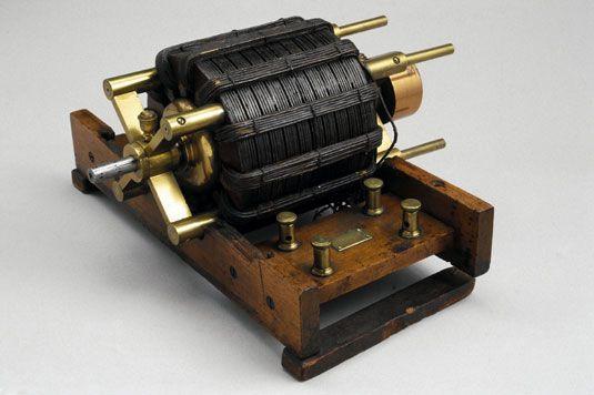 Original Tesla induction motor, 1887-1888.                                                                                                                                                                                 More