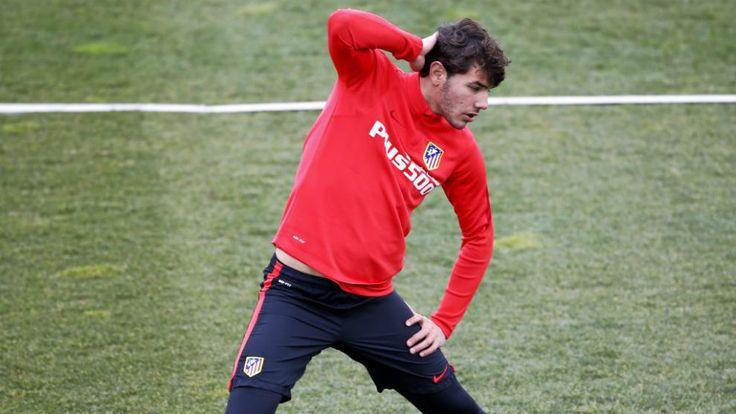 Theo, en un entrenamiento con el Atlético.