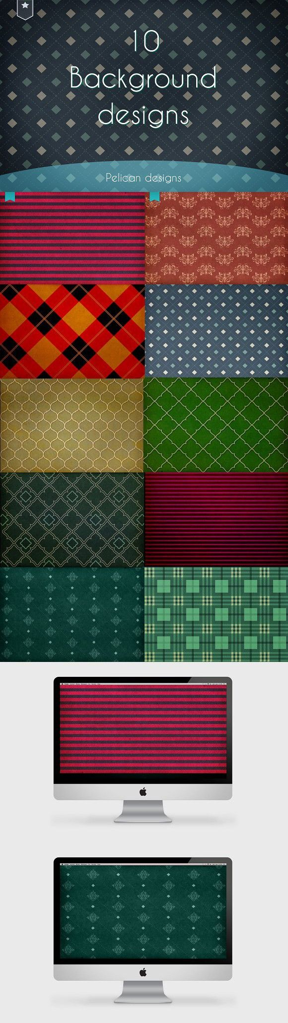 Background/desktop image set. Patterns. $4.00