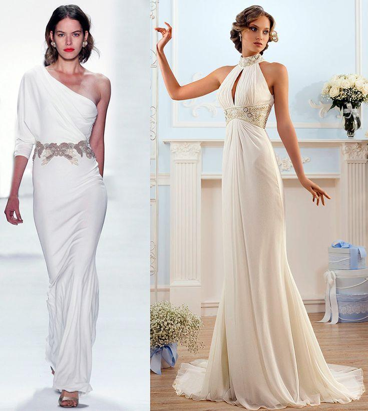 Красивые свадебные платья в греческом стиле