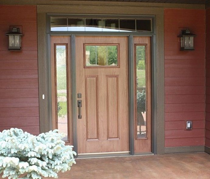 Elegant Entry Doors with Sidelights and Transom | Camalli.net