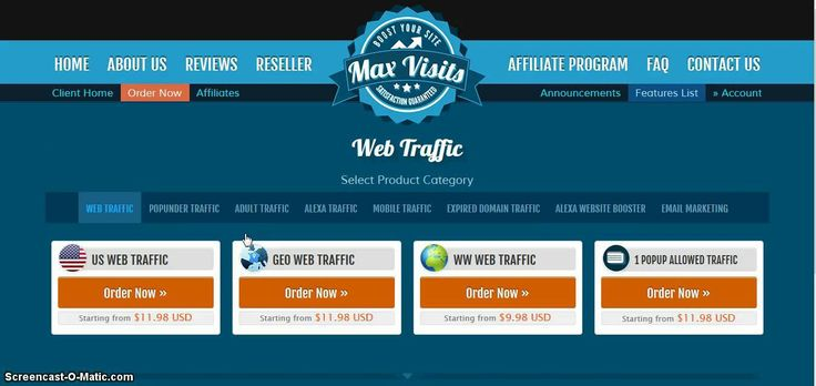 Get tons of web traffic for a cheap price
