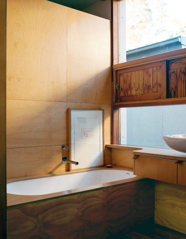 Fresh Wood In Bathroom Waterproof