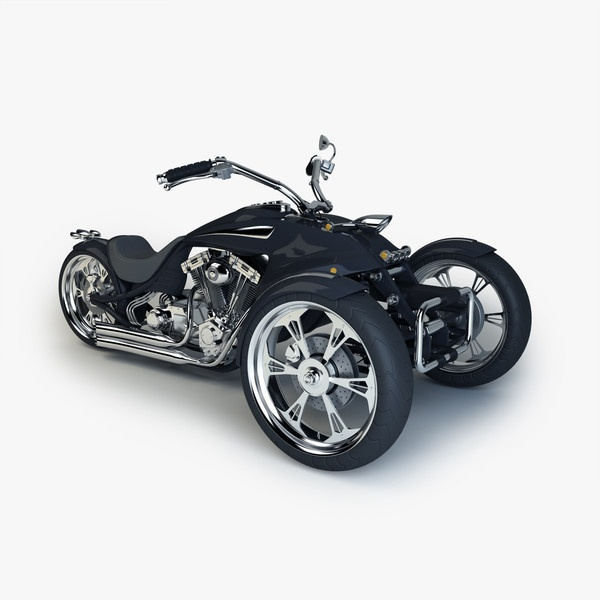 maya custom trike chopper - Trike Chopper by platinum3dmodels