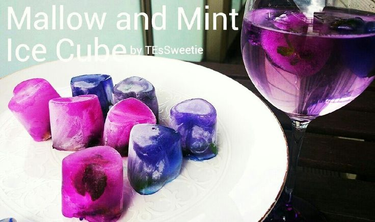 Blue Mallow and Mint ICE CUBE. My recipe⇒http://cookpad.com/recipe/3248260