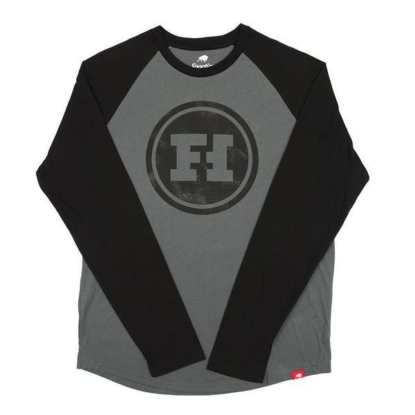 Funhaus Logo Raglan Long Sleeve Tee
