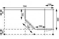 category Blokhut tuinhuis Interflex vijfhoek met platdak 40 mm 4356Z+ Plus met zijluifel, aanbouw en 1 meter extra dakoverstek. 200633-10