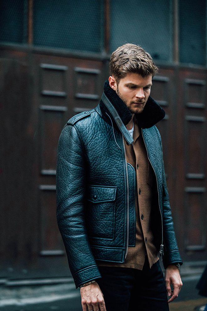 Street look de la Fashion Week homme automne-hiver 2017-2018 de Londres