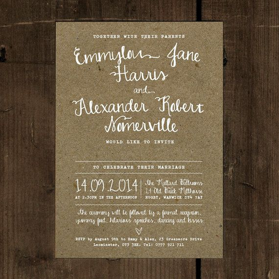 Calligraphy Wedding Invitation & Save the Date by FeelGoodInvites