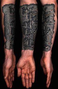 25 Amazing Biomechanical Tattoos Design