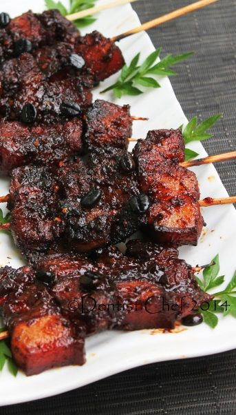 """COFFEE CHAR SIU BARBECUE PORK BELLY ~~~ how do you make a """"half-asian, born in the deep south, spent many years in texas, freak for all-things-pig"""" girl happy? easy. you come up with this smart smart smart construct :-) [dentistvschef]"""