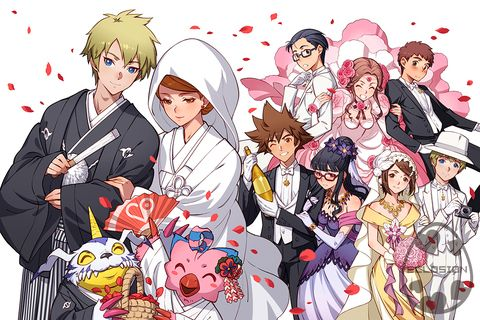 Sorato wedding by eclosion. Digimon Adventure tri