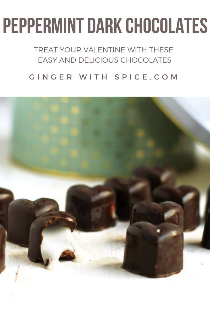 Easy and delicious peppermint dark chocolates to impress your Valentine! Click for the recipe