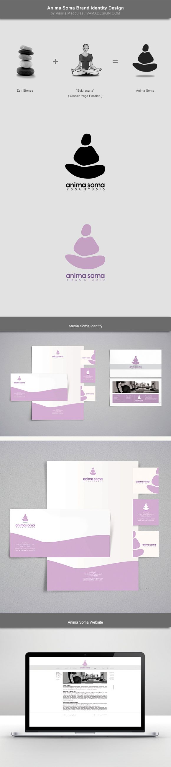 Anima Soma - Yoga Studio | Brand Identity by Vasilis Magoulas, via Behance