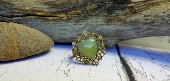Check out Thumb Ring ~ Green Jade Ring ~ PreEngagement Ring, Birthday Gift For Sister In Law, 35th Anniversary Gift, Going Away Gift For Female Friend on blueworldtreasures