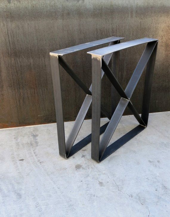 These Table Legs Are Clic Rustic To Add An Environment Made Out Of 3x 1 4 Flat Bar Frame Along With The X Which Lets