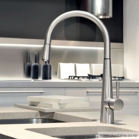 Just Kitchen Mixer With Pull Out Spout - Kitchen Tapware - Kitchen
