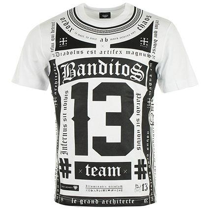 Tee Shirt Cash Money CE-188 Blanc Noir - LaBoutiqueOfficielle.com