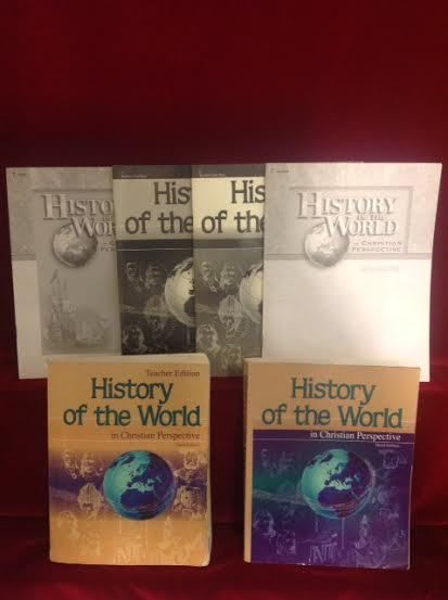 Abeka History Of The World Student, Teacher, Quiz,Test Bks & Keys, 3rd Ed.  Gr 7 #TextbookBundleKit
