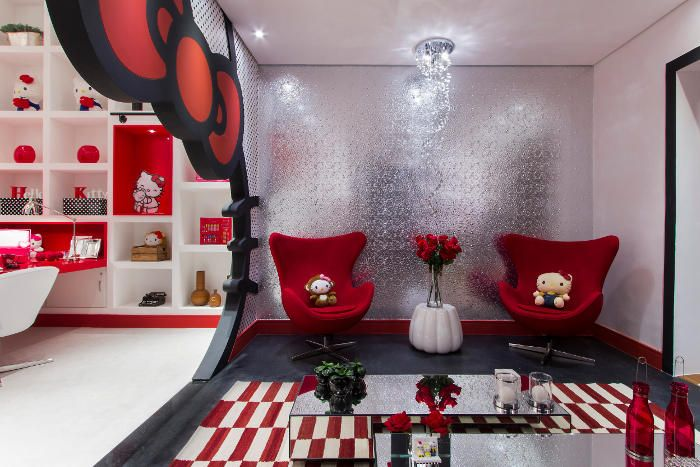 Casa Cor São Paulo. Dica para as mamães: quarto infantil da Hello Kitty! Mais fotos em: http://mamaepratica.com.br/2014/06/20/mamae-decora-quarto-da-hello-kitty/