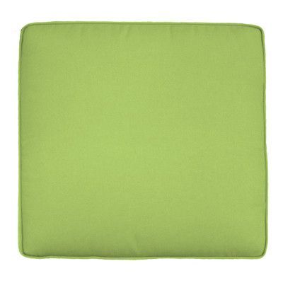 """Wayfair Custom Outdoor Cushions Double-Piped Outdoor Square Dining Chair Cushion Width: 18"""", Depth: 17"""", Fabric: Fresco Apple Green"""