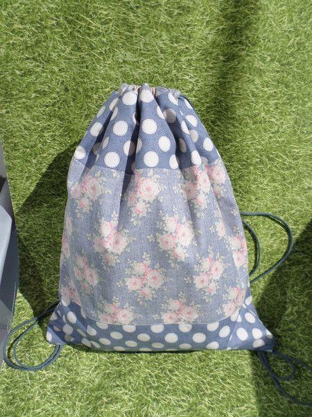 Stoffbeutel - Damen-Rucksack, Tilda - ein Designerstück von amicarina bei DaWanda