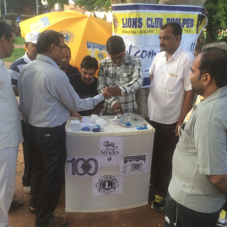 Dholpur #LionsClub (India) provided free diabetes screening for 100 people