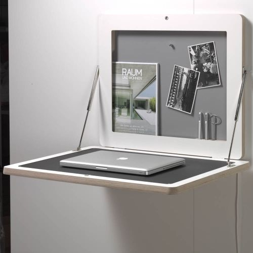 FLATFRAME Bureau Mural Rabattable, Cadre Photo. Fold Away DeskFold Out ...
