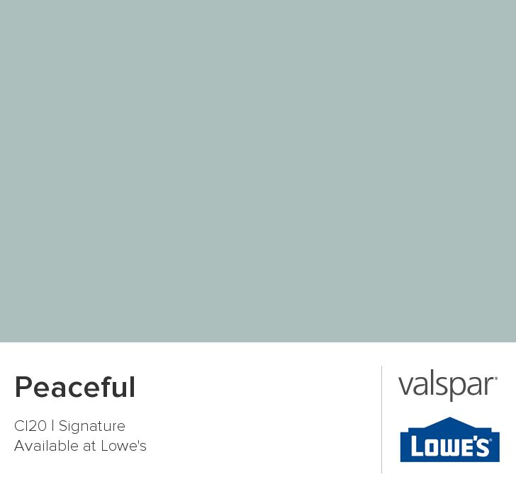 Valspar Paint - Color Chip - Peaceful