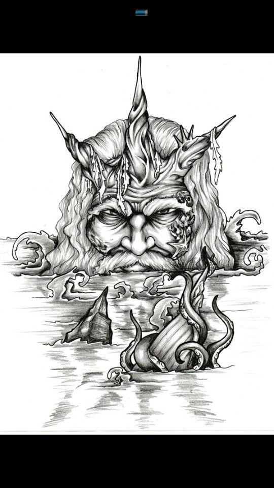 12 best King Neptune images on Pinterest | Poseidon tattoo ...