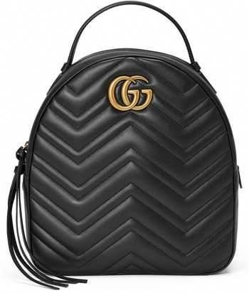 2a2b1b86398 Gucci GG Marmont Matelasse Quilted Leather Backpack  Guccihandbags. Visit.  January 2019