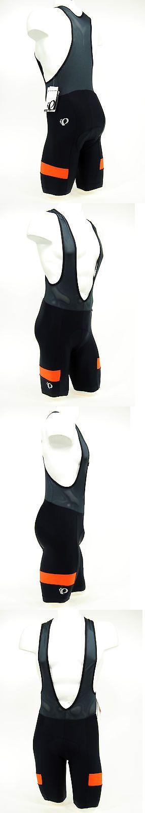 Shorts 177853: Pearl Izumi 2017 Escape Quest Splice Bike Cycling Bib Shorts Black/Orange,Medium BUY IT NOW ONLY: $49.87