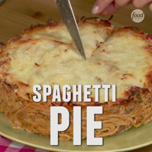 As seen on The Kitchen: the perfect use for spaghetti leftovers, Spaghetti Pie!