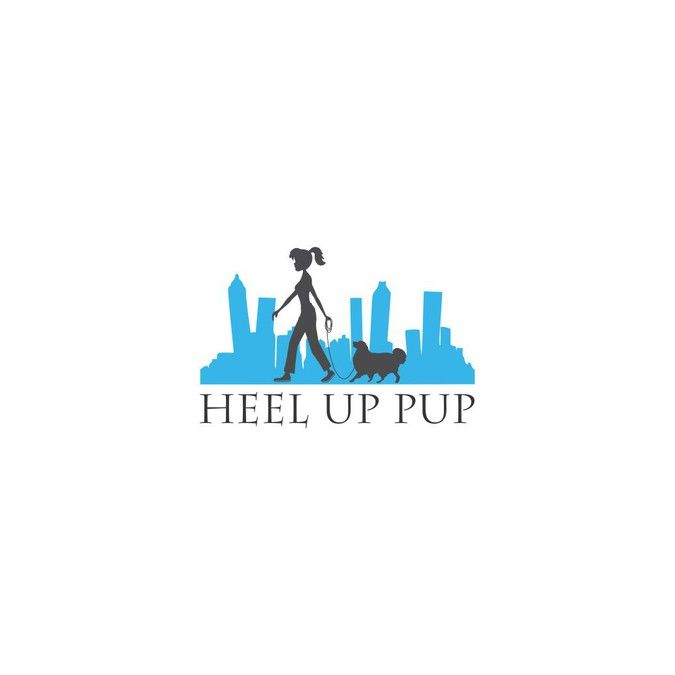 show a bond between a dog an owner in a good heel showing the queen city in the background for heel by SmoothArrow