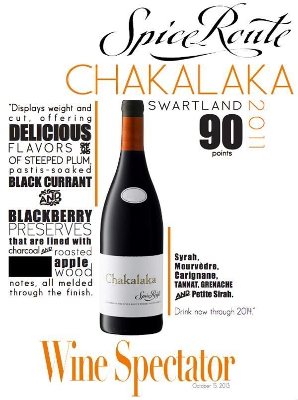 Spice Route #Chakalaka - 90 points - Wine Spectator -Photo filter courtesy of @Pinstamatic http://pinstamatic.com