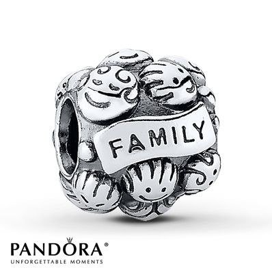 Pandora Charm Love & Family  Sterling Silver