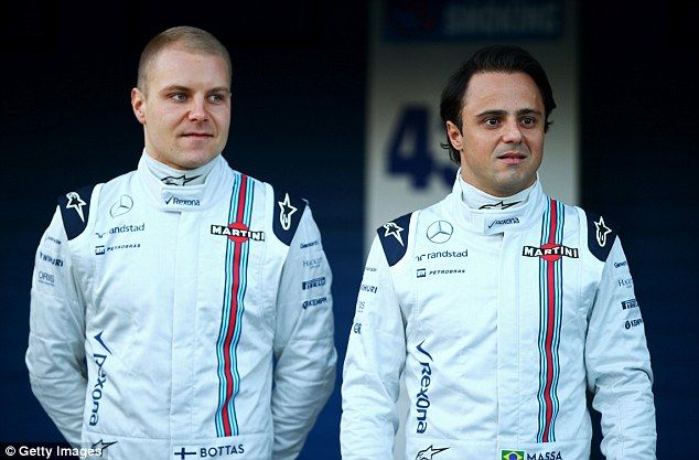 Felipe Massa will line up with Finn Valtteri Bottas for Williams during the 2015 Formula One season