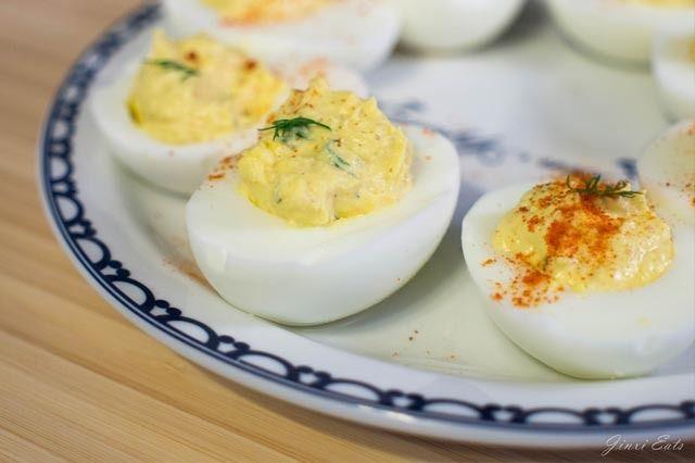 Yogurt Deviled Eggs #recipe #bbq #summerrecipe