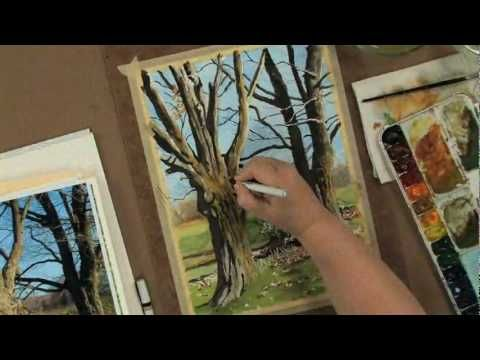 In this 91-minute artistsnetwork.tv video workshop, Claudia shows you how to create a realistic landscape, demonstrating both up-close realistic detail and distant tree characteristics with emphasis on composition, color mixing, application and texture. From pen blending to bruising, you'll have a slew of new techniques to try after watching thi...