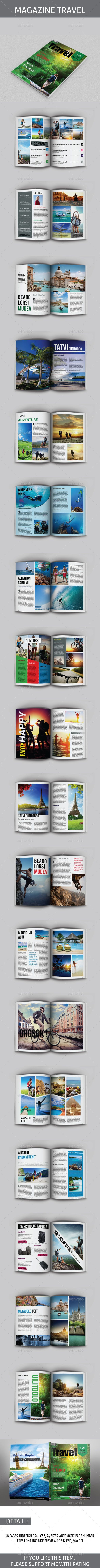 Travel Magazine Template — InDesign INDD #design #layout • Available here → https://graphicriver.net/item/travel-magazine-template/8779120?ref=pxcr